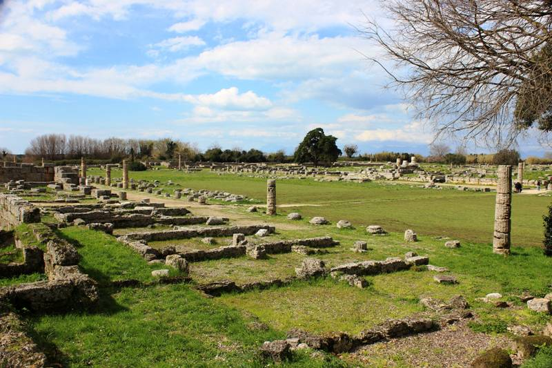 Overview of the remains in Paestum