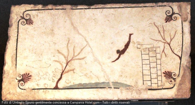 The Tomb of the Diver inside the National Archeological Museum of Paestum
